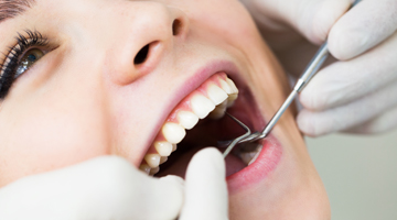 woman receiving dental work