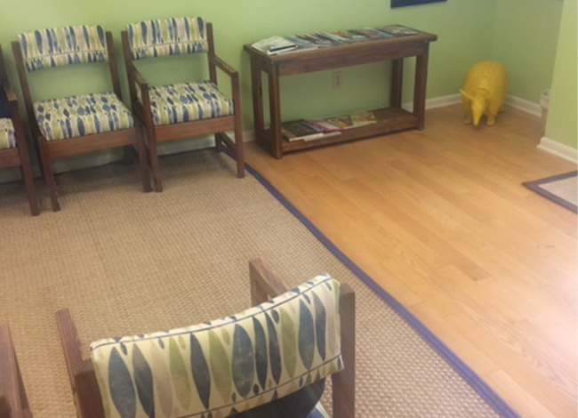 Seating area in waiting room