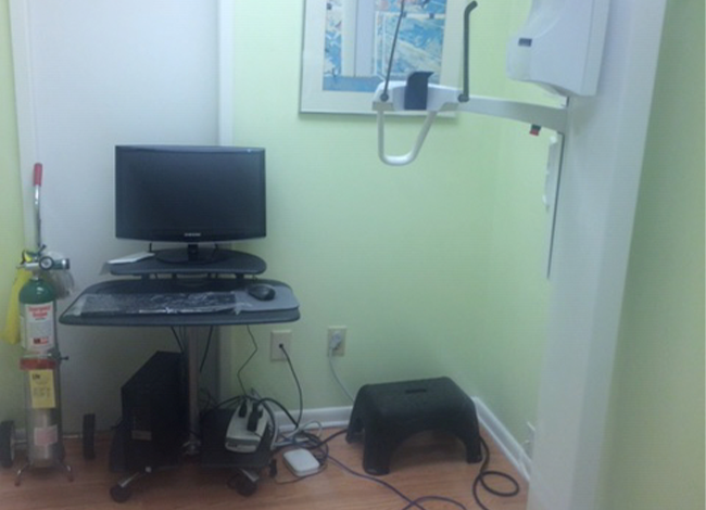 Dental technology in exam room
